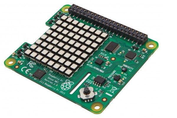 razvojni dodatki RASPBERRY PI Raspberry Pi Sense HAT with Orientation, Pressure, Humidity and Temperature Sensors, RASPBERRYPI-SENSEHAT
